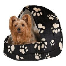 Cave Igloo Bed Charly For Cats Kittens Dogs Puppies - Medium Black Beige Paws