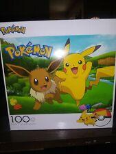 Pokemon 100 Piece Jigsaw Puzzle-Nintendo-Pikachu-Eevee- Buffalo Games *NEW*