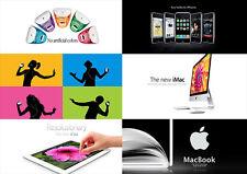 Apple Poster - DIE BESTEN WERBEANZEIGEN - Wandbild DIN A1 - 59,4 cm x 84,1 cm