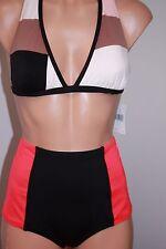 NWT Kate Spade New York Swimsuit Bikini 2pc set Sz L High Waist Bottom