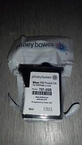 PITNEY BOWES BLUE INK 797-0SB - K700, DM50, DM55, DM60 - NEW, ORIGINAL & SEALED