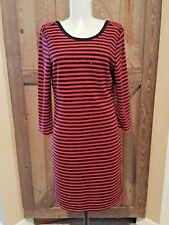 efc6dbde9b Express Womens Sweater Dress Sequin Shimmer Long Sleeve Red Black Striped  Knit M