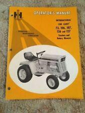 International Harvester Cub Cadet 73, 106, 107, 126 & 127 Operator's Manual