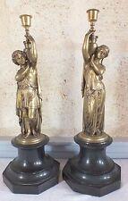 couple amphore bronze paire bougeoir candlestick époque 19ème