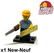 Lego - Figurine Minifig Minifigurine série 13 Carpenter charpentier NEUF