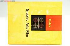 Kodak Kodalith 8x10 Pan Film. Expired 1974. Graded: AS-IS [#9343]