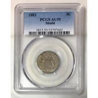 1883 Shield Nickel PCGS AU55 *Rev Tye's* #7601109