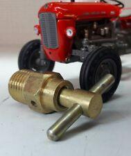 Massey Ferguson Ford Tractor Radiator Engine Block Drain Tap Brass 1/4 Bsp