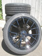 """20"""" NEW FACTORY STYLE DODGE CHARGER SRT HELLCAT GLOSS BLACK WHEELS RIMS TIRES"""