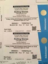 Rolling Stones VIP4 Tickets 25th May