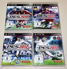 4 PLAYSTATION 3 SPIELE SET - PRO EVOLUTION SOCCER 2010 2011 2012 2013 PES PS3