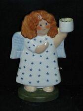 Goebel Porzellan Figur Nordic Christmas Engel Angel, Kerzenhalter