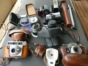 Konvolut diverse Kameras und Zubehör Tele-Objektiv u.a. Kodak Retina Reflex III