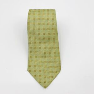 "Hermes Paris 100% Silk Green Neck Tie 3.5"" Wide Designer"