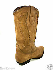 Dingo Western All Leather Brown Cowboy Boots Size 7.5 USA.