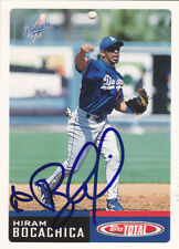HIRAM BOCACHICA LOS ANGELES DODGERS SIGNED TOTAL CARD TIGERS PADRES MARINERS A'S