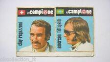 ADESIVO AUTO F1 anni '80 / Old Sticker C. REGAZZONI - E. FITTIPALDI (cm 17x10)