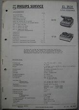 Philips EL3531 Tonbandgerät Service Manual, Ausgabe 08/61