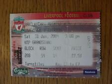 31/01/2004 Ticket: Liverpool v Everton  (folded)