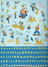 Disney MICKEY and FRIENDS Scrapbook Stickers and Alphabet