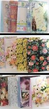 Large Assorted Picture Gift Bag Sets WEDDING, FLORAL, or BABY 2 Bags Per Set