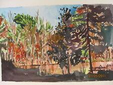 """W/C Print / Pond at Noble II / 7 1/2x11 1/2"""" / Mimi Davis, Artst"""