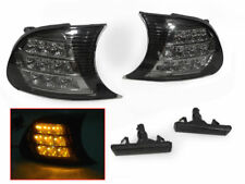 Amber LED Screw-On Smoke Corner + Fender Side Marker Lights For 02-06 BMW E46 M3