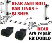 FIAT DOBLO REAR ANTI ROLL BAR BUSHES REPAIR KIT & SUSPENSION LINKS 46767262
