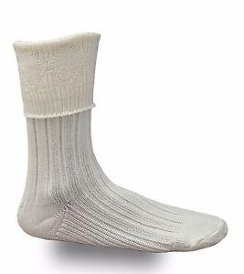 Cream Men's Scottish Highland Wear Kilt Hose Socks S/M/L/XL