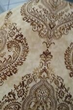 Waverly home decor cotton fabric CHAI DAMASK BROWNS AND TANS X 45