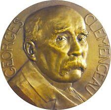 France grande médaille bronze Georges Clemenceau Le jour de gloire est là