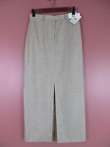 SK09803-NWT JONES NEW YORK Woman 100% Wool Seasonless Long Pencil Skirt Pocket 4