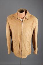 Vtg 50s Men's Windward Suede Leather Jacket sz 40 M 1950s #1979 Coat