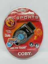 NEW Coby Portable AM FM Weather Sports Arm Band Digital Radio Stereo Turbo CX-96