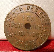 JETON PARIS 13 GOBELINS KERMESSE BON POUR UNE AUDITION