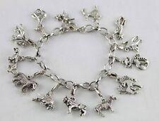 Tibetan Silver Animal Charm Bracelet E20023