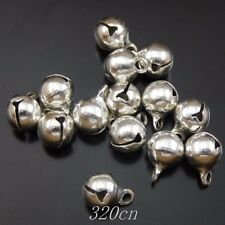 Antique Silver Brass Christmas Bells Jewelry Pendant Charms Crafts 300pcs 50047