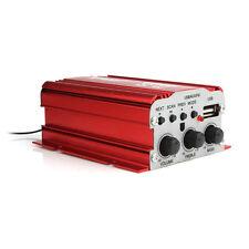 Mini 500w coche HiFi amplifier amplificador USB mp3 FM 2 kanäl USB 12v con cable de 2