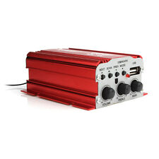 Mini 500W Auto HiFi Amplifier Verstärker USB MP3 FM 2 Kanäl USB 12V mit 2 Kabel