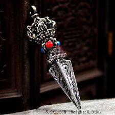 Tibetan Tibet Buddhist Vajra-Jue Vajrakila Phurpa Dorje Amulet Pendant Alloy