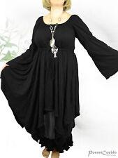 PoCo DeSiGn LAGENLOOK Kleid Crash Jersey L-XL-XXL 42 44 46 48 50 52 schwarz
