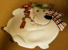 Fitz and Floyd Reindeer Canape Plate - 9""