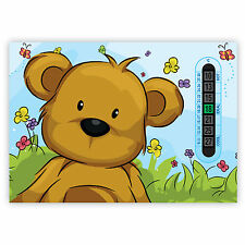 Room Thermometers A5 Nursery, Baby and Childrens Blue Teddy Bear