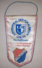 Wimpel 1.FC Magdeburg Baník Ostrava Europa Cup 1979 Pennant vlajka FCM Czechia