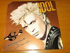"SEALED 80s ROCK LP - BILLY IDOL - CHRYSALIS - ""WHIPLASH SMILE"""