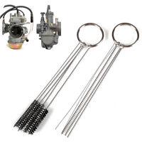 Carburetor Carbon Dirt Jet Remove 10 Cleaning Needles + 5 Brushes Tool For Honda