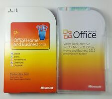 Office 2010 Home and Business Vollversion Box Deutsch PKC 32/64-Bit T5D-00299