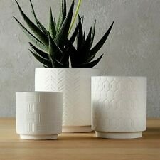 Modern White Planters - Set of 3 - New Modern Decor - Crate and Barrel