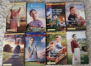 Lot of 8: Amish Romance Love-Inspired paperback books by various authors-BARGAIN