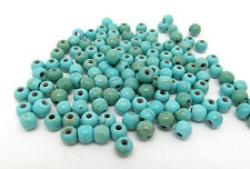 100 Turquoise Beads 4mm Reconstitued Dyed and Stabilised Turquoise  J01264XB